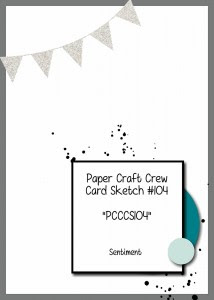 Paper Craft Crew Card Sketch #102