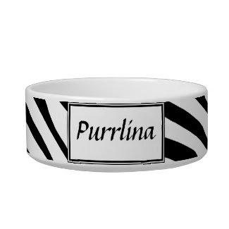 Zebra Print Cat Bowl