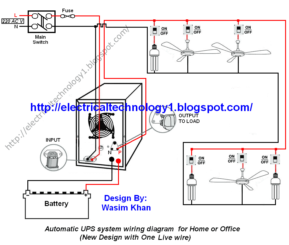 House Wiring Diagram With Inverter Connection