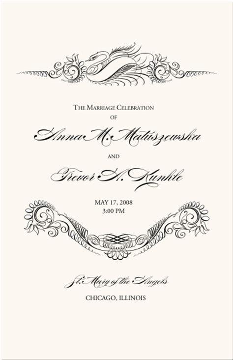 Bird Themed Wedding Programs Wedding Ceremony Programs