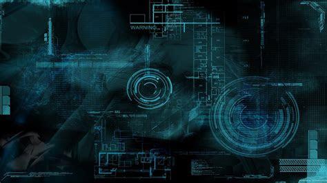 wallpaper ilustrasi seni digital ruang teknologi