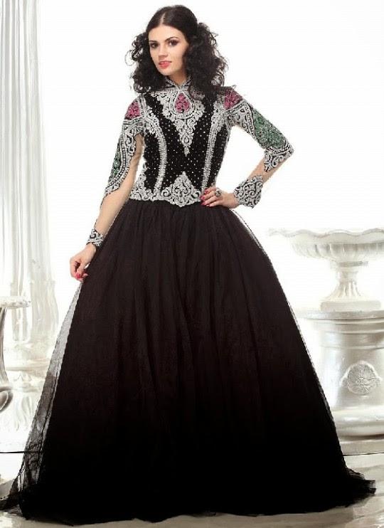 Orange Chiffon Its Fashion Metro Blouses Dark Brown: Fashion & Style: Indian Designer Bridal,Wedding Gowns
