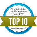 Finalist of the Best Grammar Blog of 2011