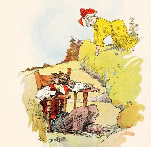 Ovis et Lupus Saucius