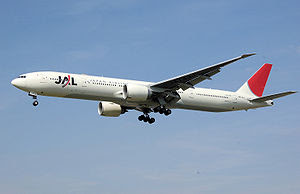 Boeing 777-300ER operated by Japan Airlines