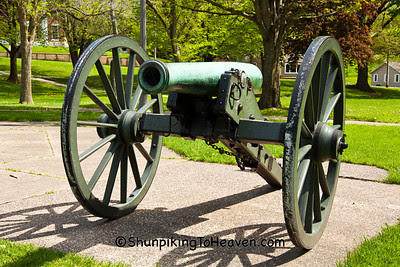 The Napoleon, Civil War Cannon, Soldiers Monument, Grant Park, Galena, Illinois