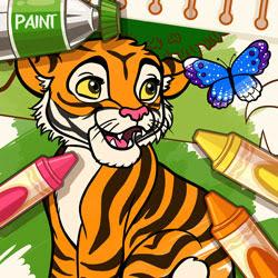 Vahşi Hayvanlar Boyama Kitabı Oyunu Oyna Boyama Oyunları