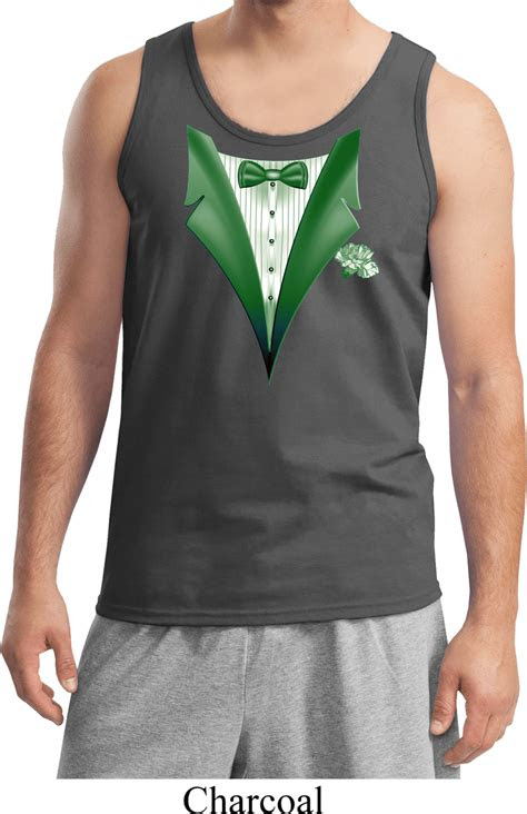 dark green tuxedo mens tank top dark green tuxedo mens