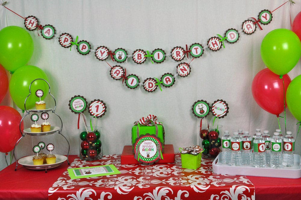 Christmas Themed Birthday Party Ideas Home Party Ideas