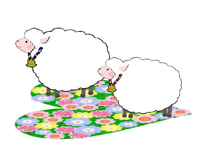 年賀状 羊のイラスト P2 冬のイラスト素材 無料テンプレート イラスト