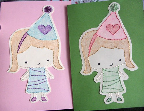stitched birthday cards