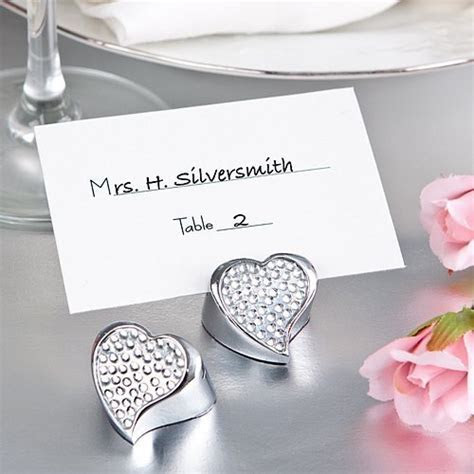 Bling Collection Rhinestone Heart Place Card Holder