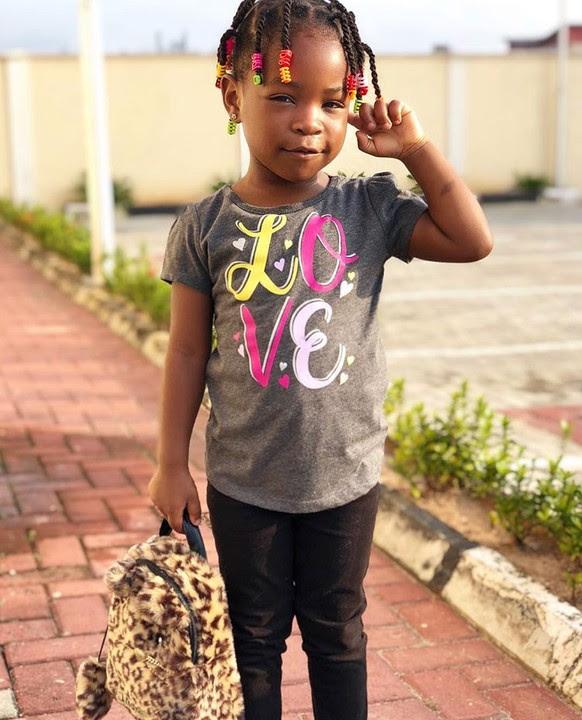 Davido's Daughter, Imade, Cute In New Photos