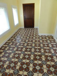 Cuban Tile Installation Room View