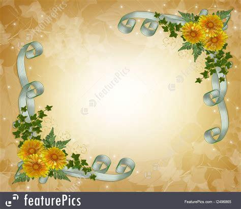 Templates: Wedding Invitation Yellow Flowers   Stock