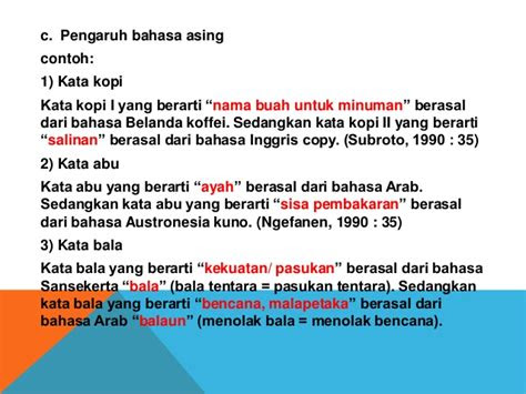 penggunaan homonim bahasa indonesia  kalimat