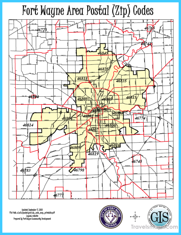 Fort Wayne Time Zone Map.Fort Wayne Indiana Zip Code Map Time Zone Map