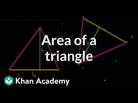 Area Of A Triangle Video Khan Academy
