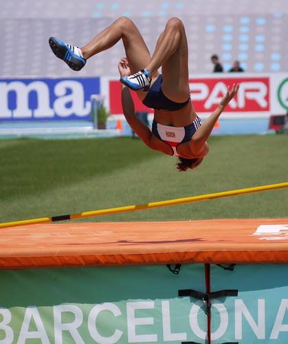 Heptathlon high jump - Jessica Ennis, GB (Gold) by Suffolk Booklover