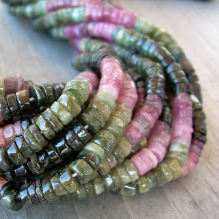 tourmaline heishi beads