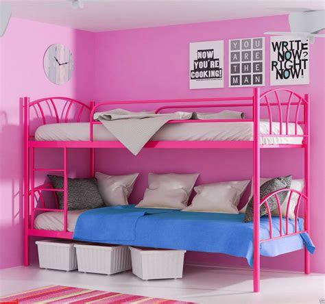 metallbett lady pink hochbett  zwei einzelbetten teilbar
