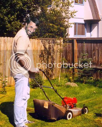 Ahmadinejad Mowing his Yard
