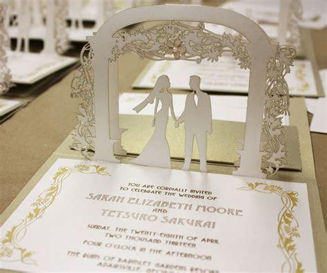 Lasercut Art Nouveau Pop Up Wedding Invitation by KatBlu #