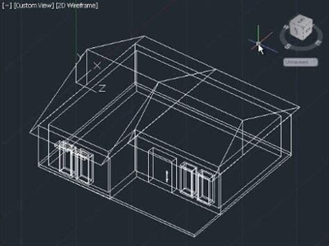 autocad  house modeling tutorial beginner basic youtube