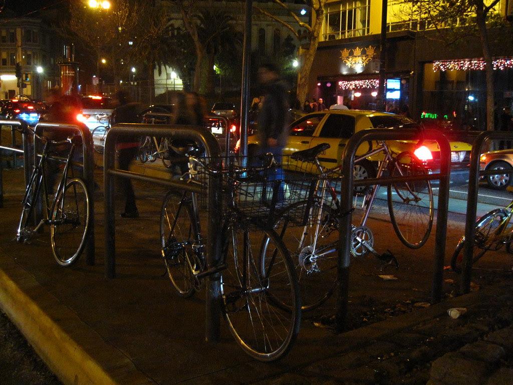 Triple crown bike parking.
