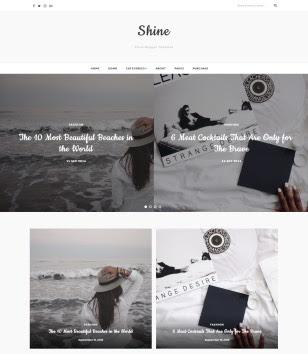 shine-blogger-templates