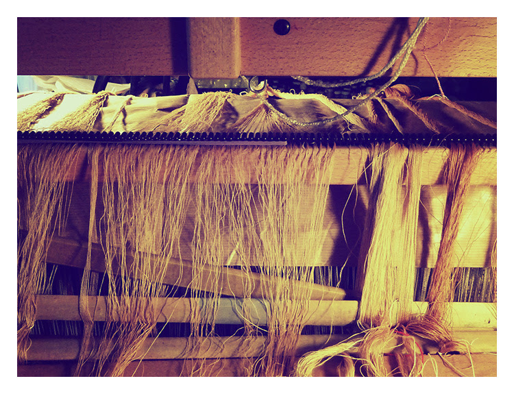 warping back of loom
