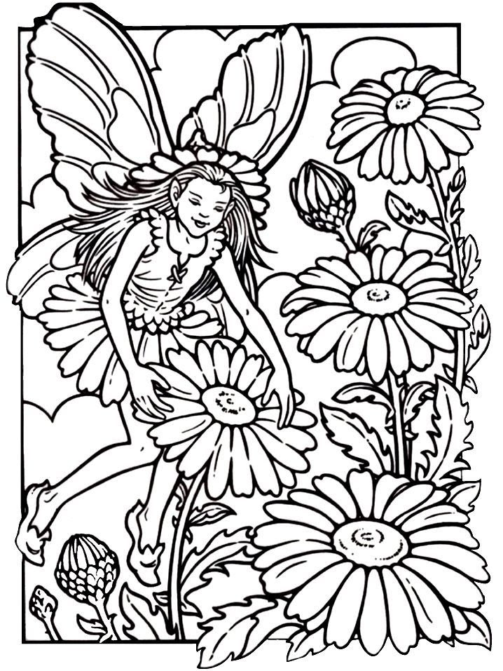 Fairy Coloring Pages For Adults - Coloring Home