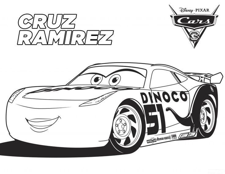 Cars 3 Para Pintar Dibujos Para Imprimir Y Colorear