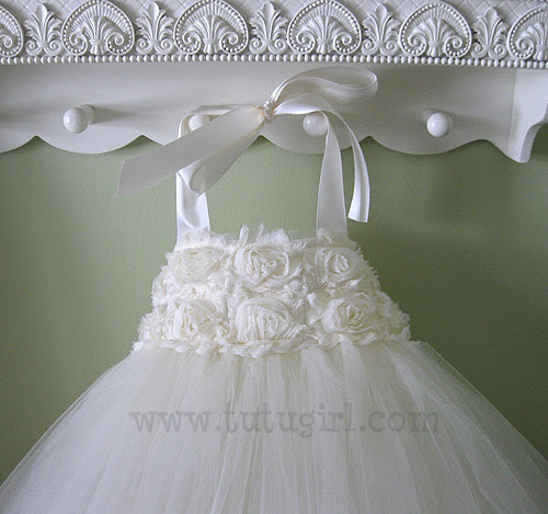 Ivory Flower Girl Tutu Dress Toddler Tutu Dress Girls Flower Girl