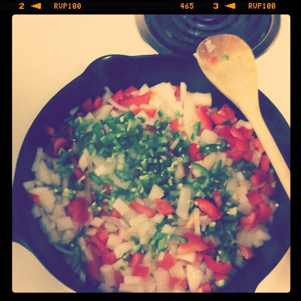 Instragram - onions and peppers