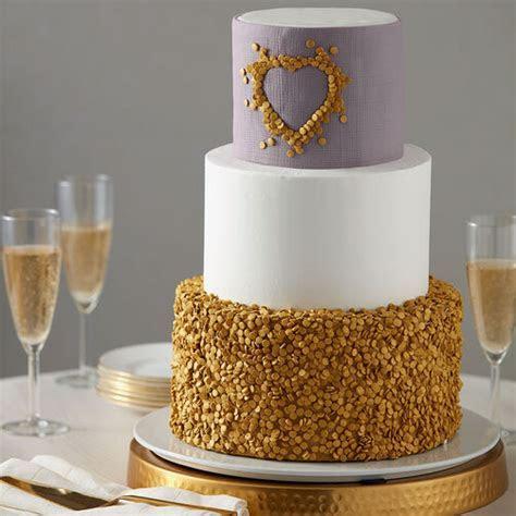 Gold Wedding Cake   Wilton