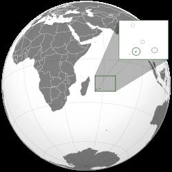 Vị trí của Mauritius
