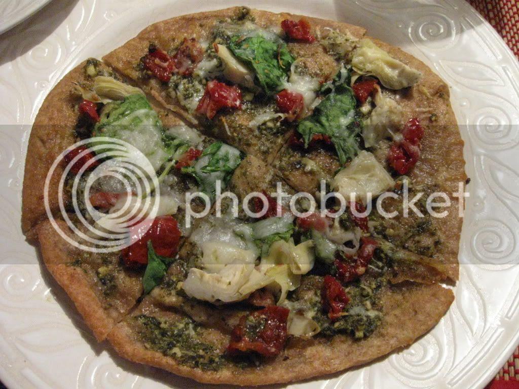 whole wheat flatbread pizza