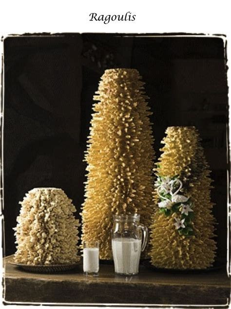 The traditional Lithuanian cake   Ragoulis (spiked or tree