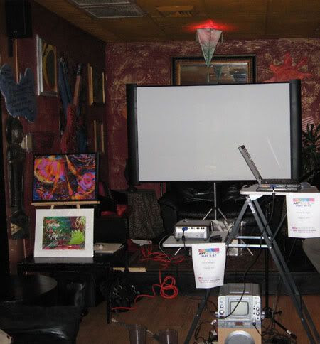 The set-up at Sticky Fingerz