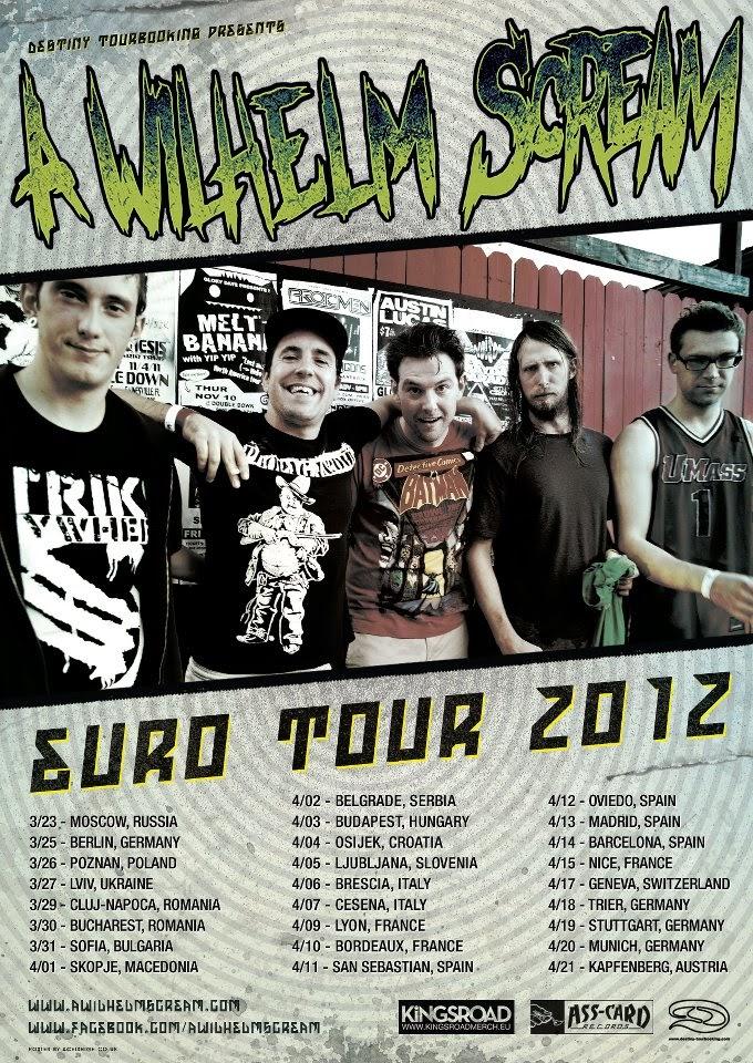 <center>[TOUR] A Wilhelm Scream European Tour 2012</center>