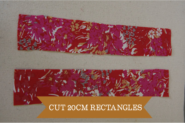 Embellish - cut 20cm rectangles
