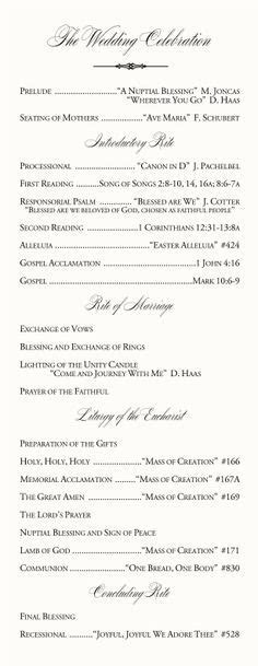 1000  ideas about Catholic Wedding Programs on Pinterest