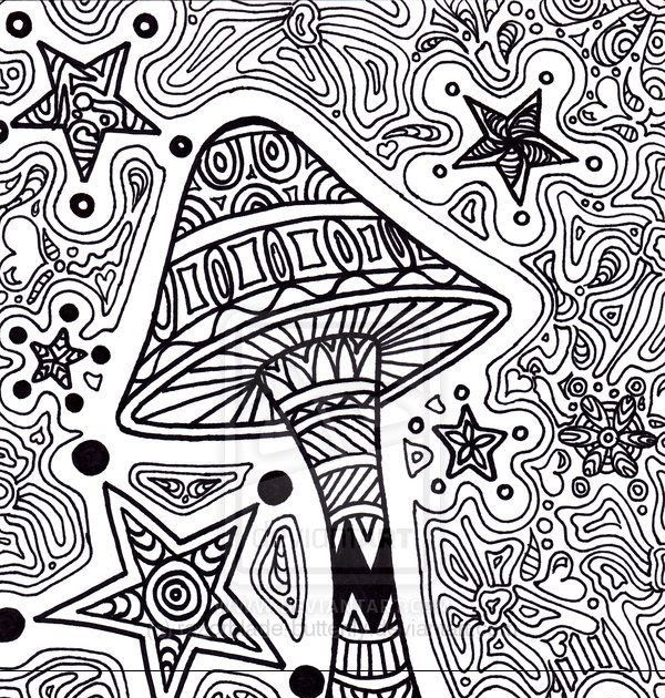 Trippy 420 Coloring Pages | Let's Coloring The World