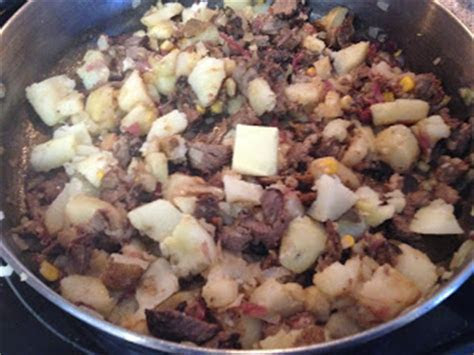 add the potatoes and 1 tablespoon of butter