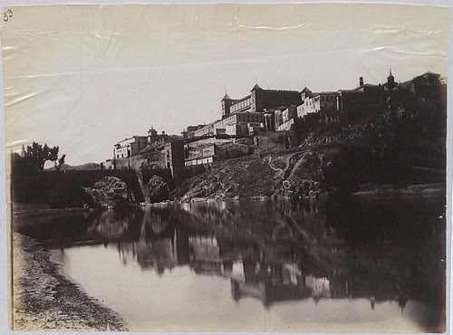 Puente de Alcántara, Alcázar y Río Tajo en 1883. Fotografía de Alfred Dismorr. The National Archives, Kew, Richmond, Surrey