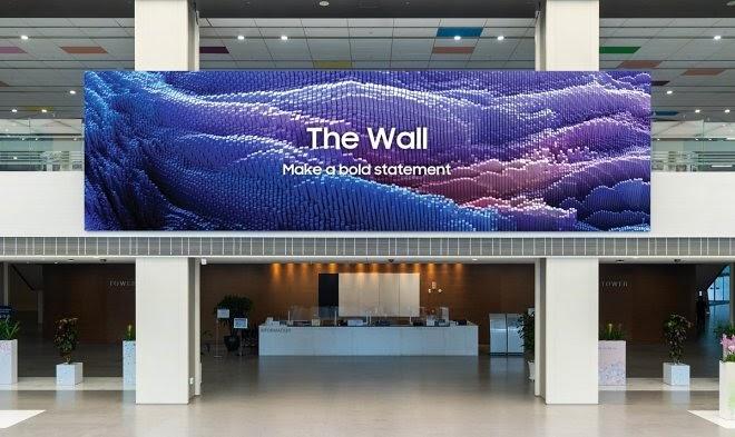 Samsung выпустил 1000-дюймовый телевизор с говорящим названием «Стена»