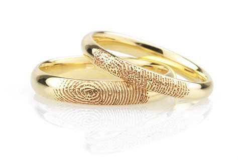 fingerprint wedding rings   easy steps