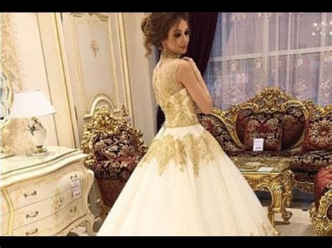 Wedding Dress Gold And White   YouTube