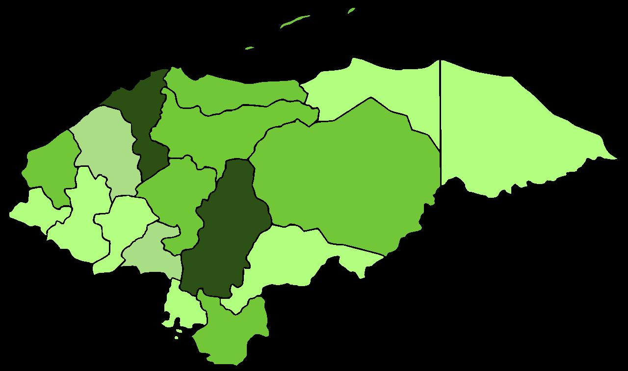 Fileh1n1 Honduras Map By Affected Areas Alternative Svg